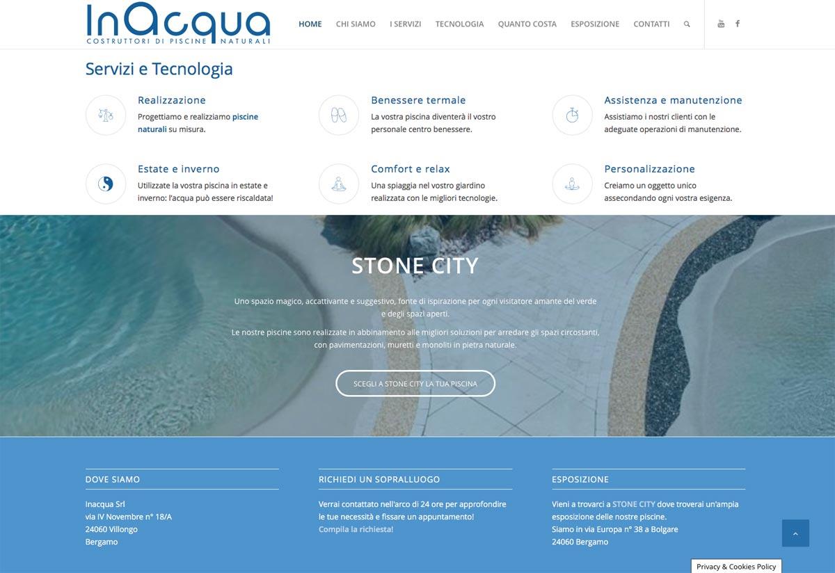 Web Design Inacqua Piscine