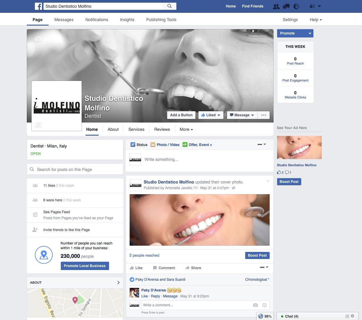 Studio Dentistico Molfino Social Media Marketing