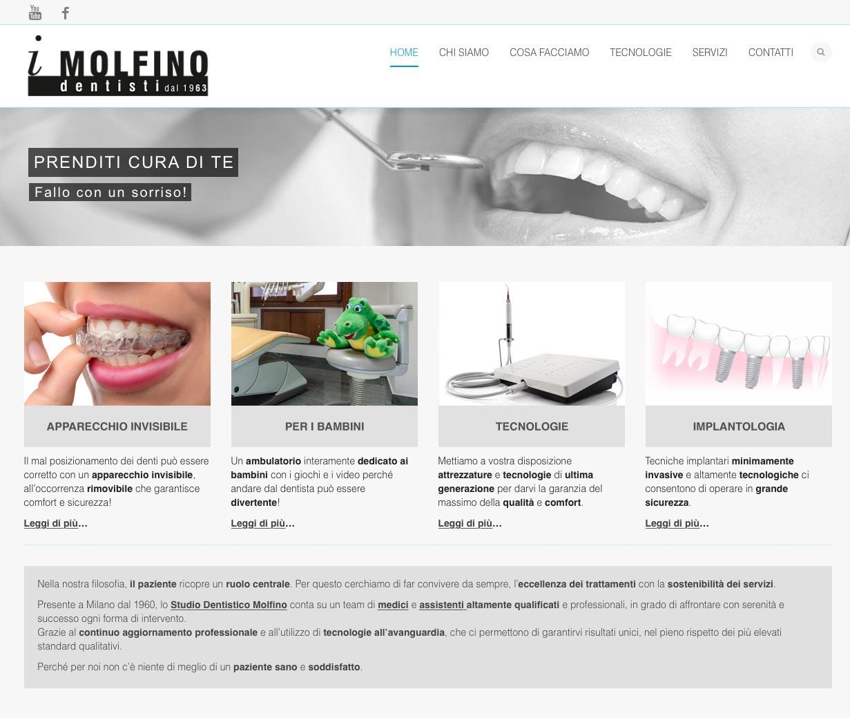 Studio Dentistico Molfino Web Design