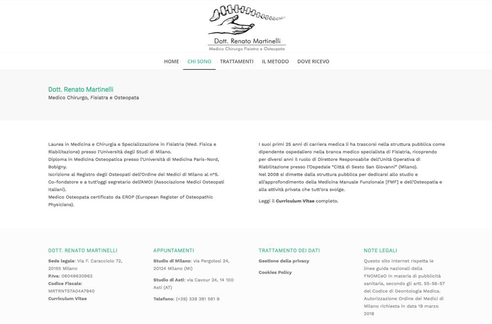 Web Design Sito Renato Martinelli