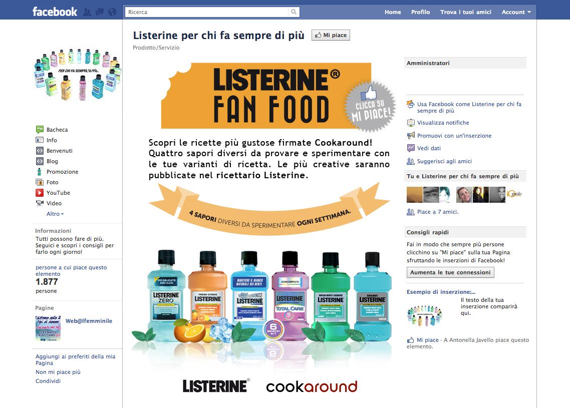 Listerine sui Social