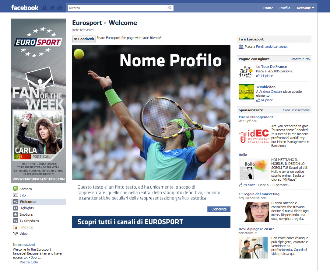 Eurosport App Facebook