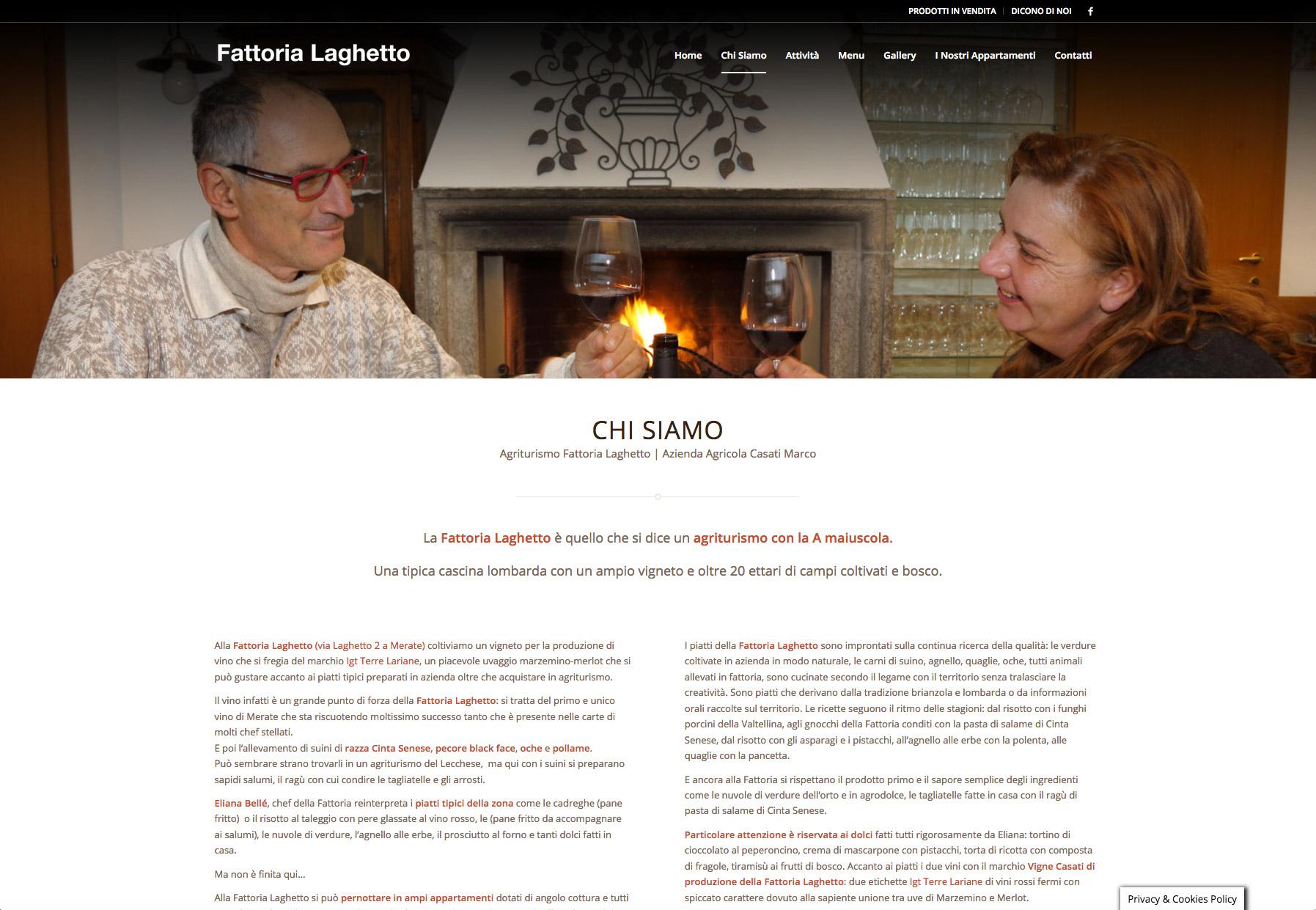Fattoria Laghetto Web Design